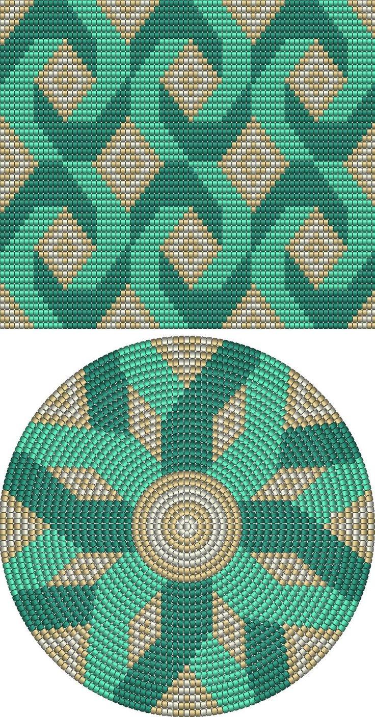 Копилка узоров - Крючком многоцветные узоры, жаккард 36