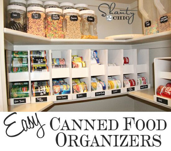 Pantry Ideas – DIY Canned Food Storage. | home interior stuff ...