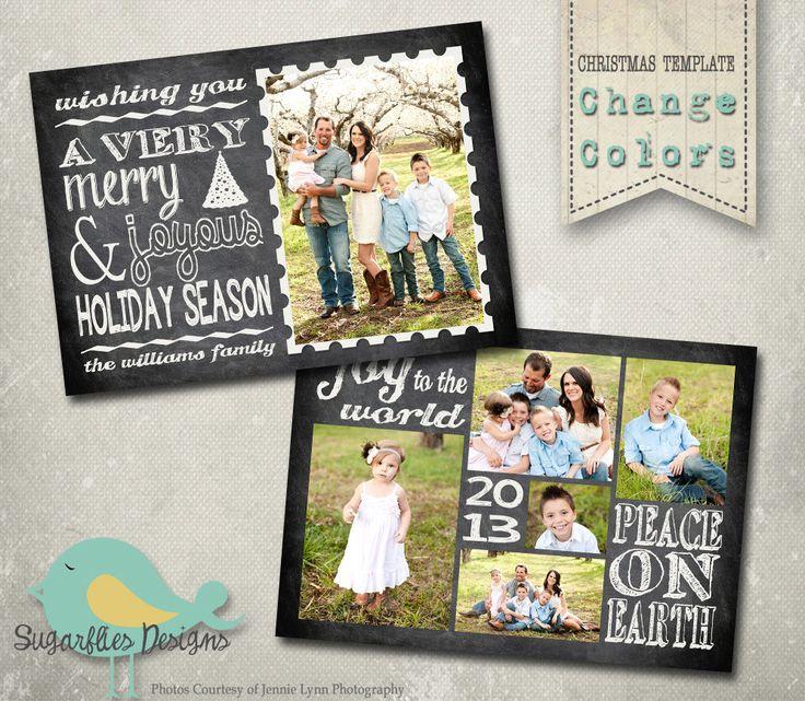 Christmas Card Templates - Family Christmas Card Chalkboard 86