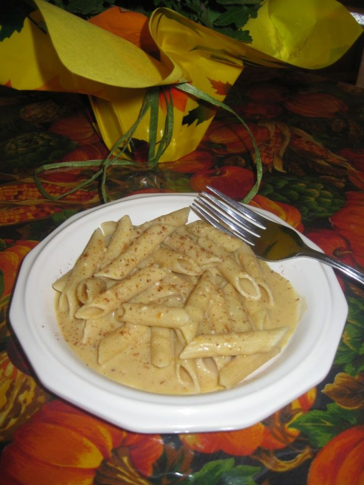 Penne With Creamy Pumpkin Sauce Recipe — Dishmaps
