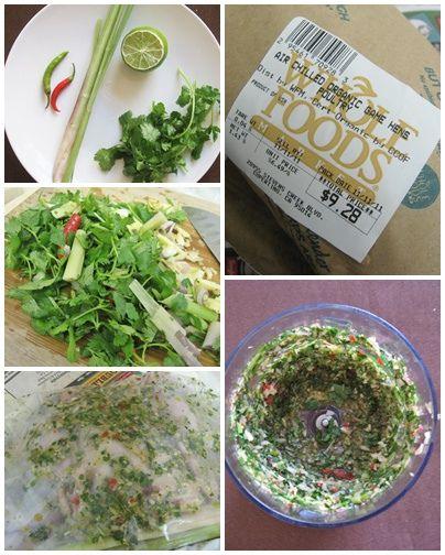 Lemongrass Lime Cilantro Roast Chicken   Food!   Pinterest