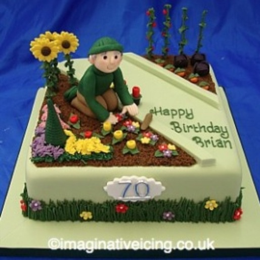 Gardening birthday cake special birthday cakes pinterest for Gardening 80th birthday cake