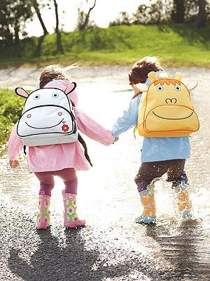 Tiny Tillia branches out from body care into adorable clothing, toys and accessories. Our fave: These animal-themed backpacks, raincoats and rubber boots!