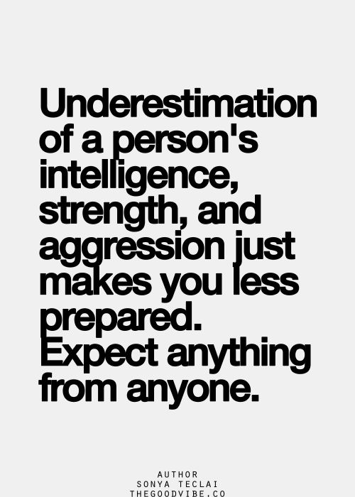 how to know if someone is underestimating you