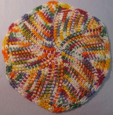 Tunisian Crochet Dishcloth Patterns