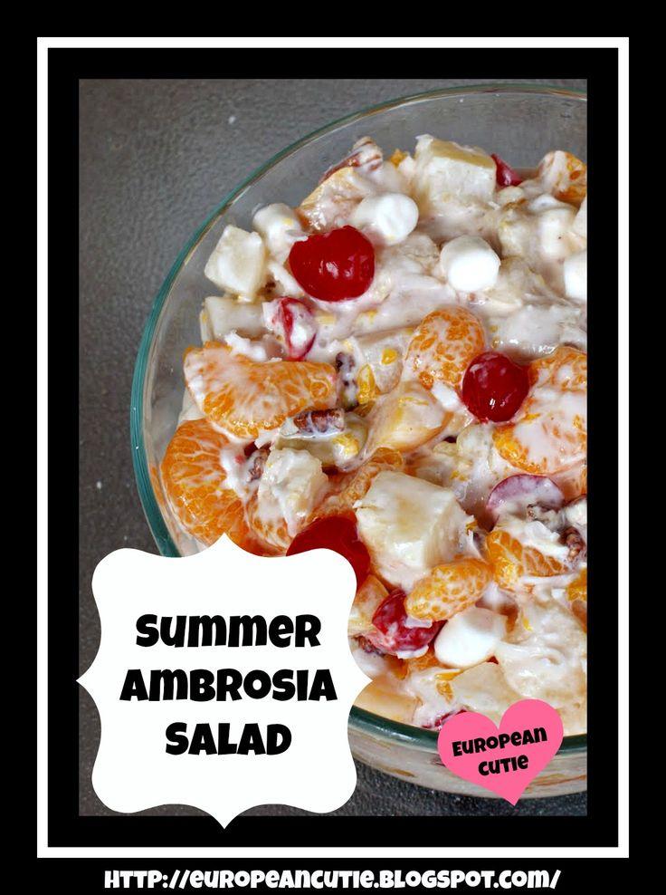 Summer Ambrosia Salad on MyRecipeMagic.com