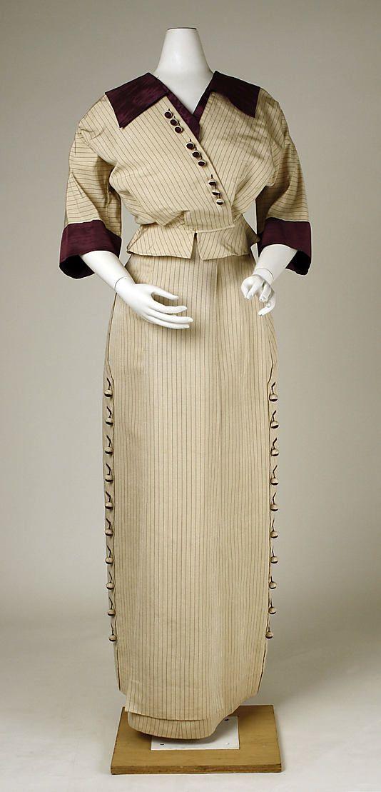 Suit, Walking  Date: 1911 Culture: American Medium: silk