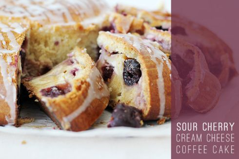Sour Cherry Cream Cheese Coffee Cake4 | New Desserts to Sink Your Spo ...
