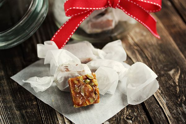 Salted Pumpkin Caramels - these would make great christmas gifts!