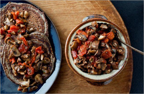 Blini With Mushroom Caviar - Recipes for Health - NYTimes.com