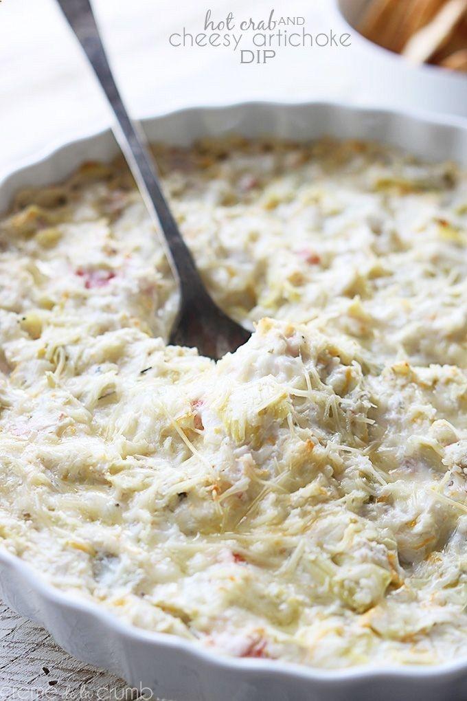 Hot Crab and Artichoke Dip | DIPS | Pinterest