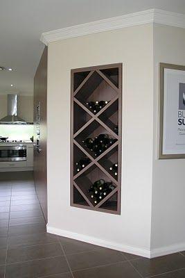 Built in wine nook.