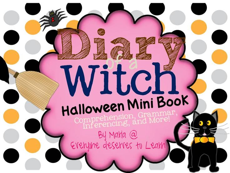 If your students love Halloween, they will love this book! This mini-book is great to use as a substitute lesson or in a literacy center.   This mini-book is three entries in the diary of a gender neutral witch. It addresses overcoming fears about going to school, making friends, and trying your best.