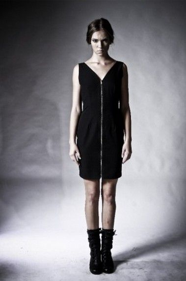 Indie Clothes - Zip Front Dress