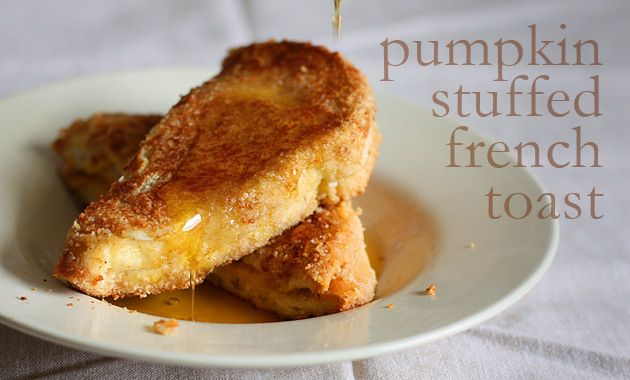Pumpkin french toast with almond crust ( I liked it better without the ...
