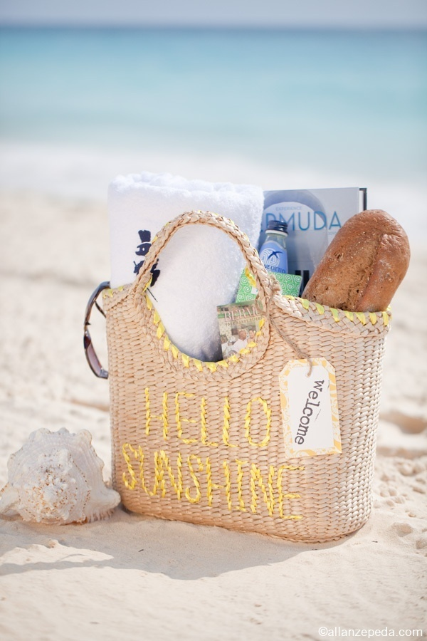 Beach Wedding Gift Bags For Guests : love a good welcome bagbeach tote is perfect since guests probably ...