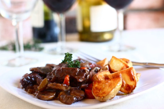 Beef Bourguignon with Roasted Potatoes | Beef | Pinterest