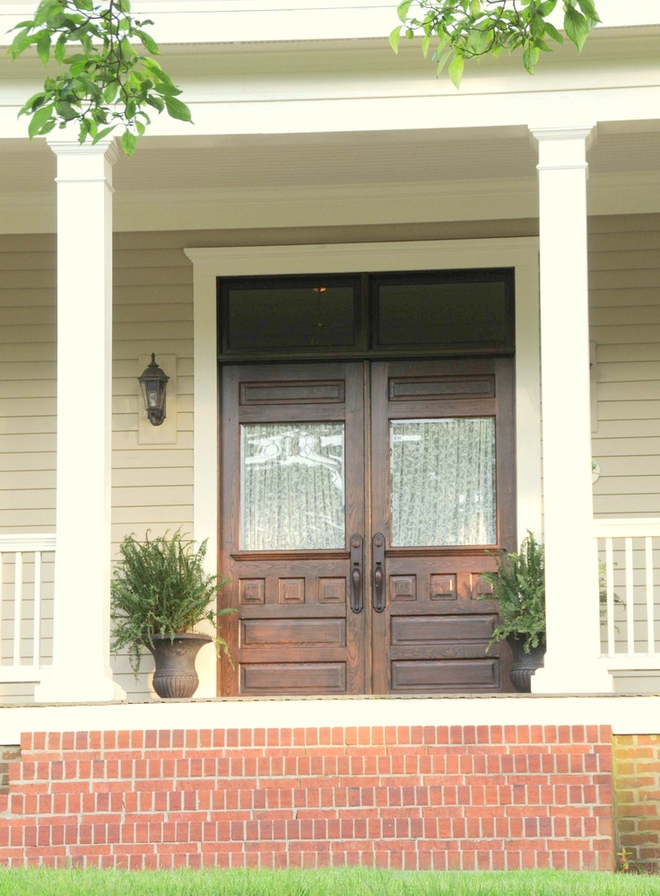 Welcoming front door house exterior pinterest for Large front entry doors