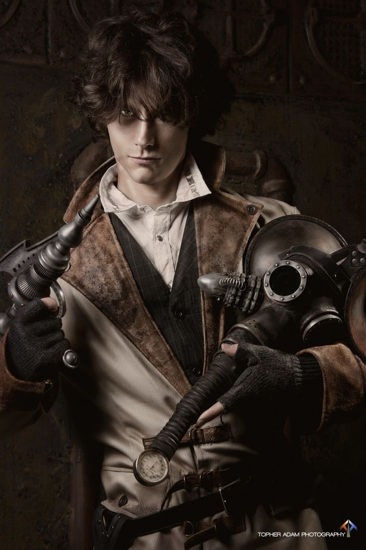 topher adam photography steampunk fashion for men