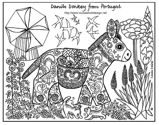 Coloring Pages Animals Patterns : Awesome printable coloring pages doodles and zentangles