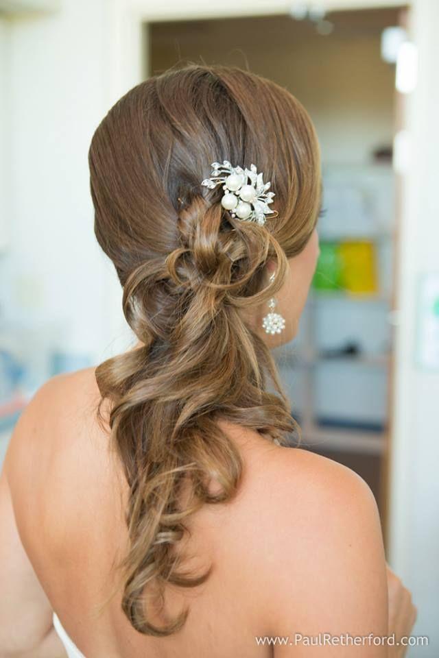 Wedding hair, side ponytail | Wedding Hairstyles | Pinterest