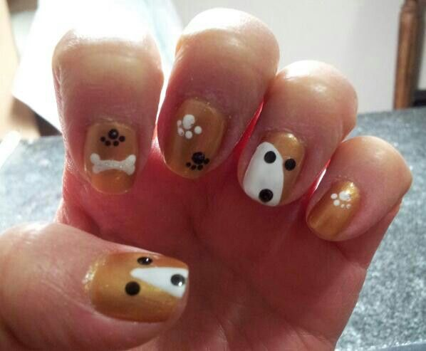 Dog Puppy Nail Art Design Nailarts Ideas