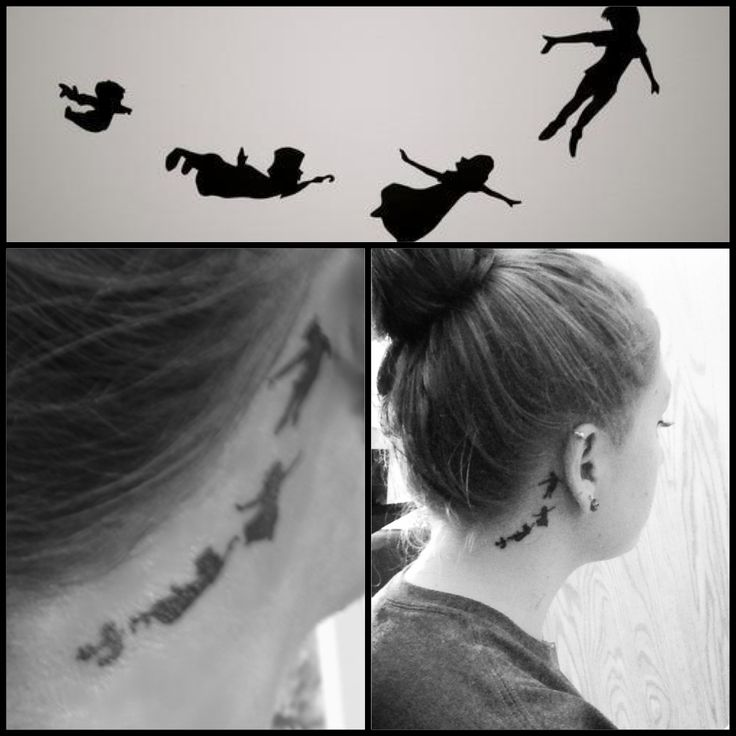 the gallery for peter pan silhouette tattoo