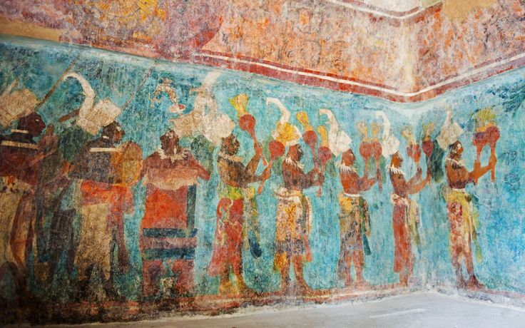 Pin by joe pardo on the art of pre columbia pinterest for Bonampak mural painting
