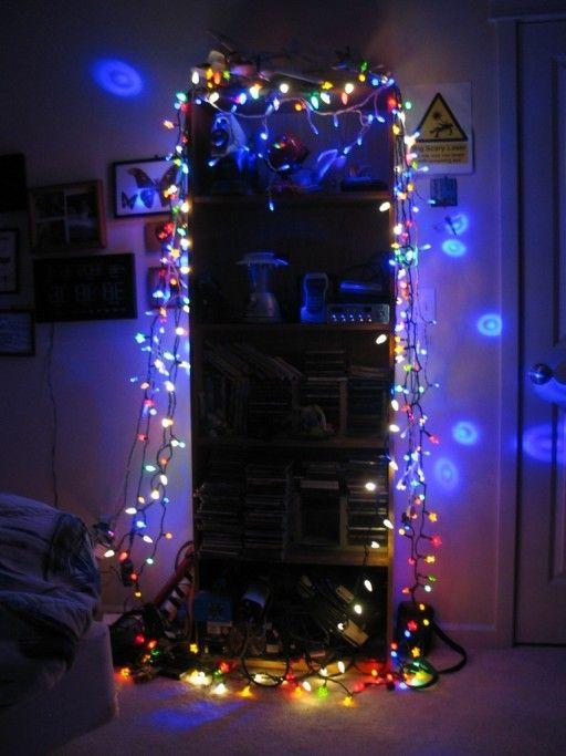 Dorm decoration, creative Christmas lights decor, 2013 Christmas dorm ...