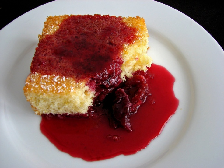 Cornmeal Cake with Balsamic Cherries | Cakes | Pinterest