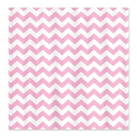 Girls 39 Bathroom Pink Chevron Shower Curtain