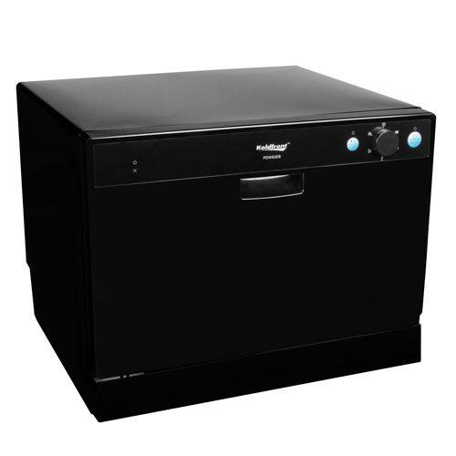 Countertop Dishwasher Energy Star : Koldfront 6 Place Setting Countertop Dishwasher - Black Model:PDW60EB
