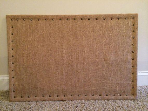 36 x 24 large burlap cork board. Black Bedroom Furniture Sets. Home Design Ideas