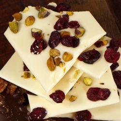 White Chocolate Cranberry Pistachio Bark | I WANT CANDY!!!! | Pintere ...
