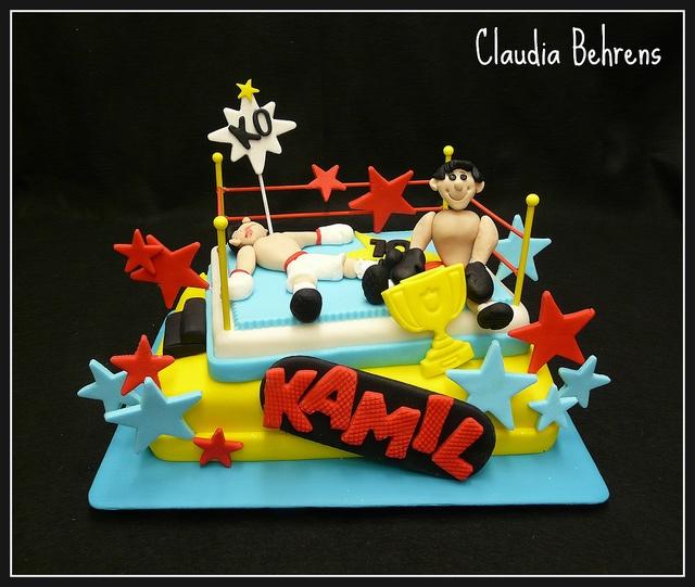 wrestling cake kamil - claudia behrens by Claudia Behrens ~ Cakes, via Flickr