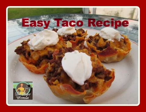 Easy Tacos made in a muffin tin! I love this!!