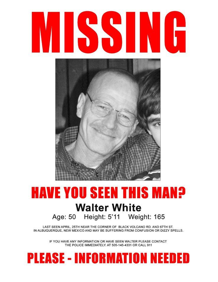 MISSING Poster for Walter White