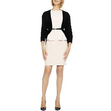 Galerry sheath dress cardigan