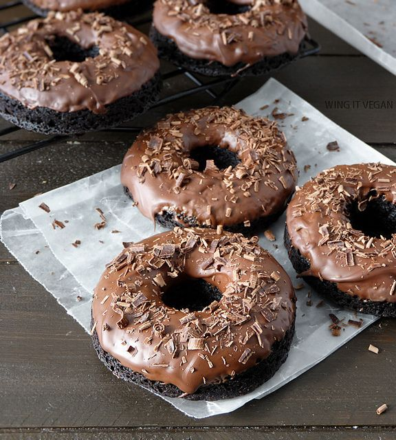 Triple Chocolate Cake Doughnuts | Lovin' from the Oven | Pinterest
