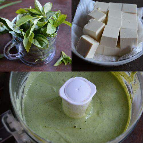 Basil Tofu Green Goddess dressing via Viet Kitchen