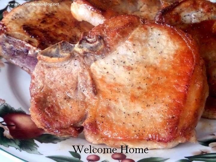 Pan Seared & Baked Pork Chops | Entree Pork | Pinterest