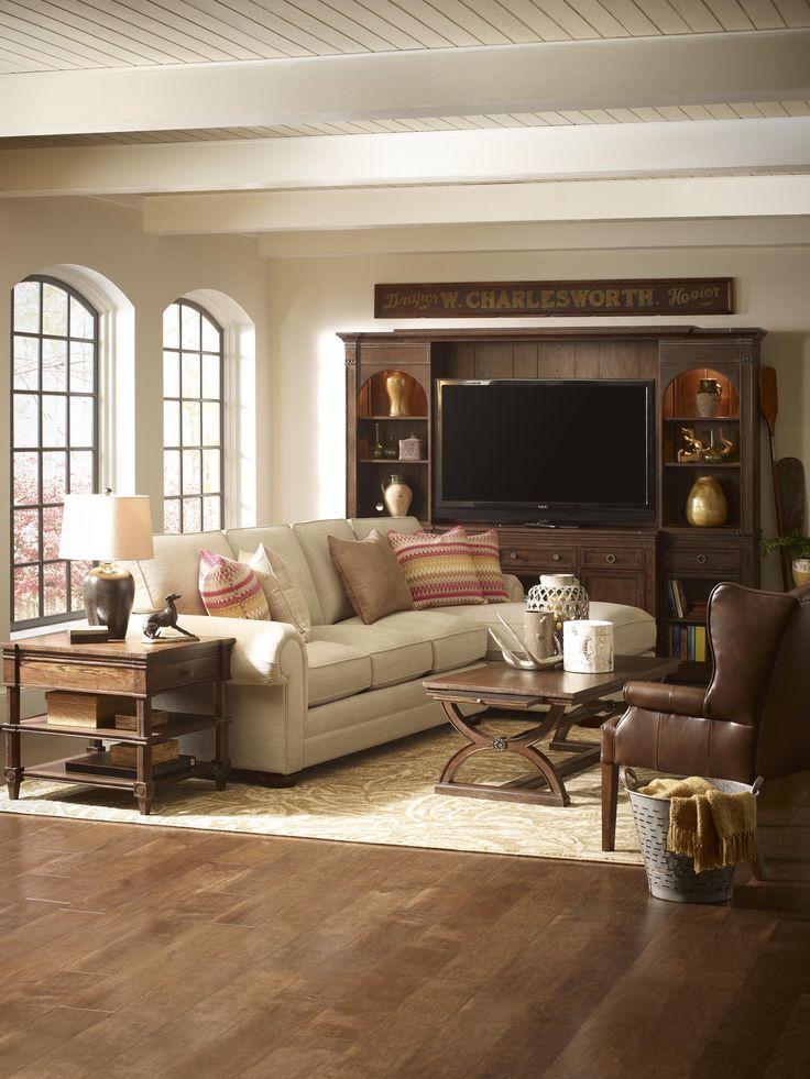 Hgtv rustic living room home sweet home pinterest for Living room pinterest
