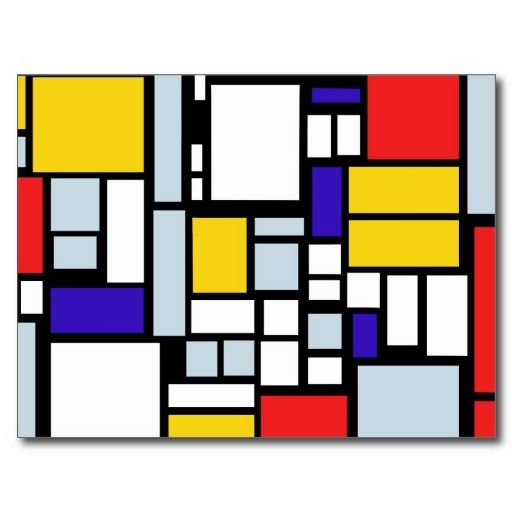 Modern Geometric Design Primary Colors