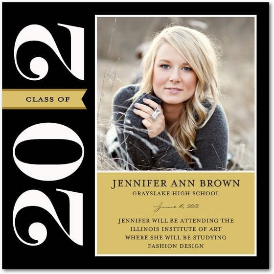 Formal Tag Graduation Announcements In Black Fine Moments