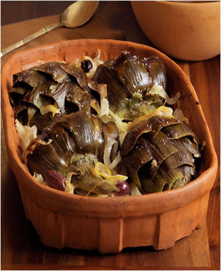 Baked artichokes | Noms - Sides | Pinterest