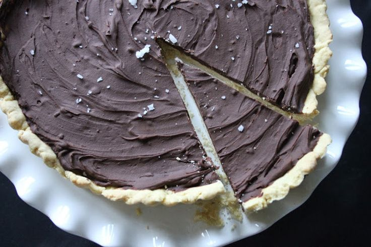 Salted Chocolate Tart (Use organic sugar and homemade vegan butter or ...