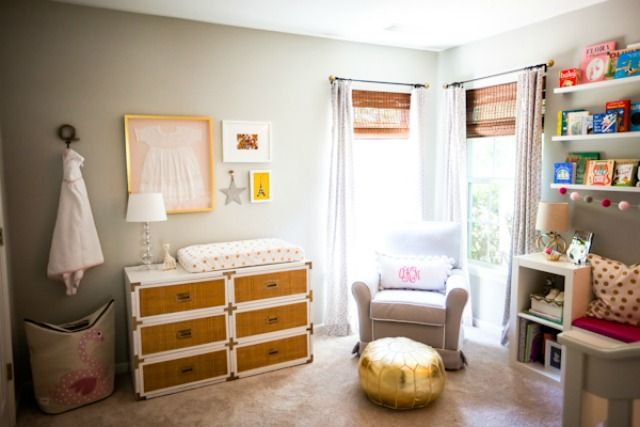 Gray and Pink Whimsical Nursery - Project Nursery