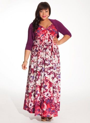 Maxi Dresses: Plus Size Maxi Dresses With Shrugs