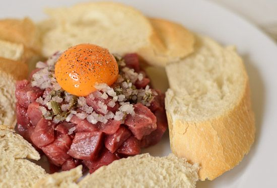 Steak Tartare - a rustic version inspired by travels in France.