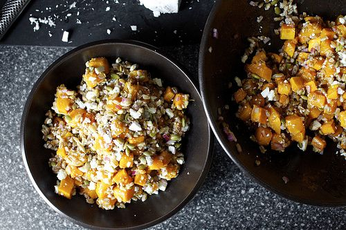 Farro and Butternut squash salad a big october grain salad by smitten ...